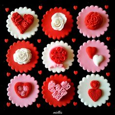 valentine's day cupcakes with filling