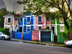 São Paulo Antiga — Sobrados – Rua Monte Alegre 296 a 308