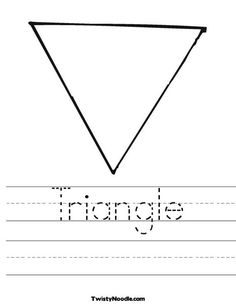 math worksheet : 1000 images about triangles on pinterest  triangles worksheets  : Triangle Worksheets For Kindergarten