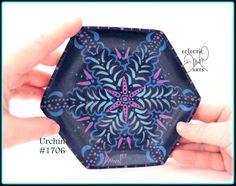#Mandala by EclecticDawnArts. Get it at: http://etsy.me/2kFj5cC via @Etsy #hennadesign #trinkettray #homedecor #blues #gifts