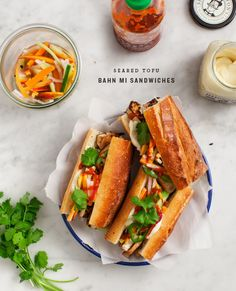 I've never had a reason to make bahn mi's at home because some of my favorite places (Lulu B's...