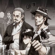 Find images and videos about levi and kenny ackerman on We Heart It - the app to get lost in what you love. Levi Ackerman, Kenny Ackerman, Attack On Titan Fanart, Attack On Titan Levi, Armin, Mikasa, Fanarts Anime, Manga Anime, Titan Manga