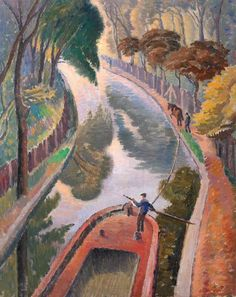 ۩۩ Painting the Town ۩۩ city, town, village house art - Ethelbert White | Regent's Canal