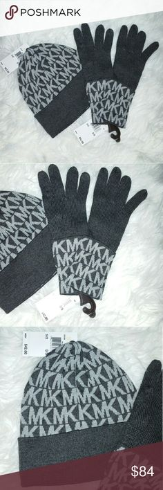 🎁MICHAEL KORS Beanie&gloves set. Brand new with tags!!  Michael Kors beanie and gloves set. Colors:Gray tones. This fabulous set will make a perfect gift for yourself or someone you care about!!  🎈 More fabulous MK items in my closet🎈  💖Shop with confidence💖💖 🎉🎊Suggested User🎊🎉 📮💌Same day shipping📮💌 5🌟🌟🌟🌟🌟 star rated closet 👍👍Top seller👍👍   Hat, beanie, glove, gloves,MK Michael Kors Accessories Hats