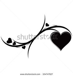 black heart tattoo - cover up idea