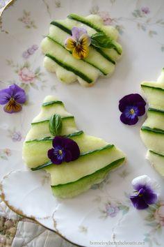 Cucumber and Cream Cheese Tea Sandwiches   homeiswheretheboatis.net #tea