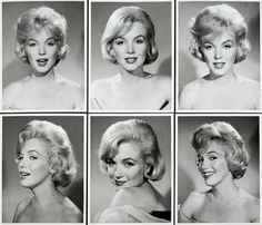 """Some rare Marilyn Monroe headshots, around the time of Let's Make Love, 1960 #marilynmonroe #marilyn"""