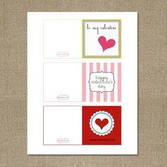 FREE printable Valentines! #valentine's #free #party #ideas