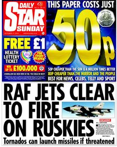 11 best front pages sunday 11th october 2015 images on pinterest daily star on sunday fandeluxe Gallery