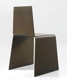 Scott Burton; Lacquered and Rolled Steel Chair, 1979.