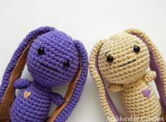 Bunny Free Amigurumi Pattern http://www.amidorablecrochet.ca/2014/04/bunny-pattern.html#.U1A_jaKRj5Y