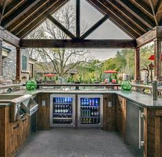 If you are looking for Outdoor Kitchen Ideas Patios, You come to the right place. Here are the Outdoor Kitchen Ideas Patios. This post about Outdoor Kitch. Backyard Pavilion, Backyard Bar, Backyard Kitchen, Outdoor Pavilion, Patio Bar, Backyard Layout, Pavilion Wedding, Backyard Landscaping, Modern Outdoor Kitchen