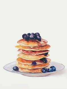 pancake drawing imagen descubierto por T H U. Pancake Drawing, Food Drawing, Tumblr Sticker, Dessert Illustration, Cute Food Art, Food Sketch, Watercolor Food, Cupcake Art, Food Wallpaper