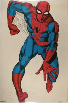 Life-size Spider-Man wall decal, late 70s - hung on the wall of my room until it was destroyed by my brother during a tantrum