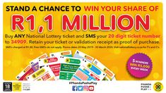 Ithuba National Lottery | Home National Lottery, Lottery Tickets, How To Apply, Text Posts, Raffle Tickets