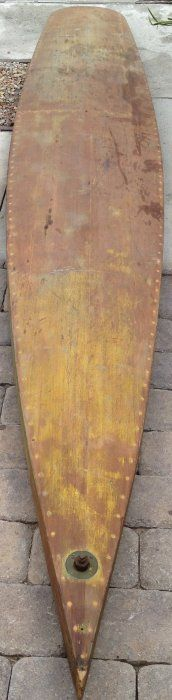 136: 1930's Paddleboard {Tom Blake Style} : Lot 136