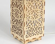 Wooden lamp / Decorative lamp / Laser cut wood by LIGHTandWOOD