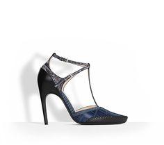 Blue calfskin pump, 10 cm -  Dior