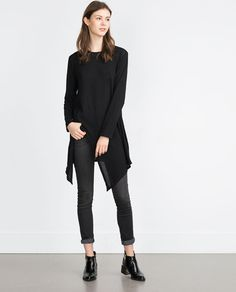 Image 1 of POINTED HEM TOP from Zara