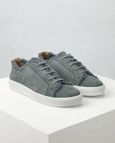 A fitting design for Autumn Winter 16, our new Ayda trainers are partially lined in sheepskin to keep feet snug. Featuring a leather exterior, the comfortable pair has a rubber grip sole and waxed cotton laces. Wear with jeans.