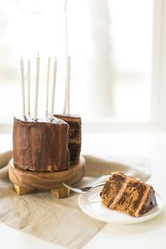 How to Make the Best Birthday Cake, Ever! Marbled Chocolate Nutella Cake   lark & linen #birthdaycake #nutella #cakerecipe
