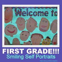 Welcome to School Bulletin Board, First Grade Bulletin Board (Article series filled with bulletin boards, doors, showcases, murals et. al!!)