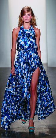 Peter Som Spring 2012 pleated gown  Model: Constance Jablonski