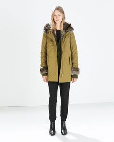 ZARA - NEW THIS WEEK - PARKA WITH DETACHABLE FUR