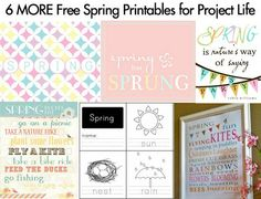 6 MORE Free Spring Printables for Project Life