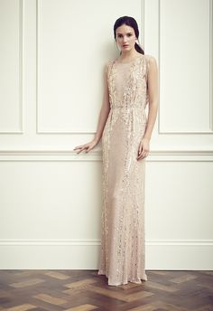 Blush wedding dress. Perfect sparkles. From Jenny Packham.
