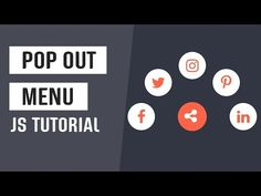 One of the best ways to keep the users engaged is to add interactivity to your UI. So here is an interactive menu. Note: This tutorial is created with vanill. Menu Css, Html Css, Pop Out, Coding, Tutorials, Tips, Youtube, Youtube Movies, Programming