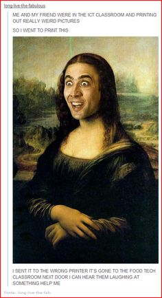Not only does it have the face, but have you noticed that the Mona Lisa has ALWAYS done gangam style????!