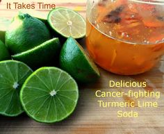 Turmeric Lime Soda - It Takes Timehere are a myriad of health benefits associated with the curcumin component of  turmeric, including inhibition of colon, gastric and breast cancers.