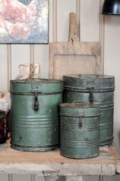 love this color - old tins