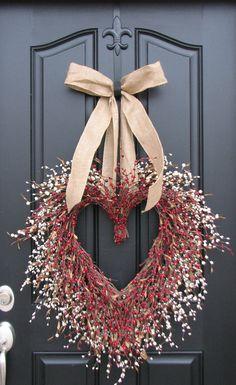 Pretty Heart Wreath