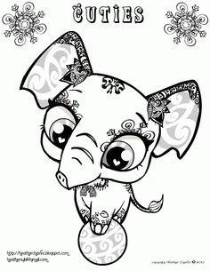 pet shop coloring pages printable heather chavez creative cuties animal design