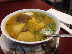 At Genesis eating amazing Equadorian food; maize tostado, ayaca and sopa de bola #equadorianfood #inwood