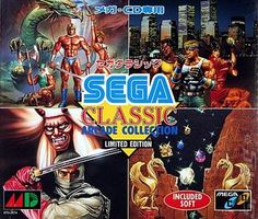 Sega Arcade Classics - Limited Edition (4 em 1) (Sega CD)