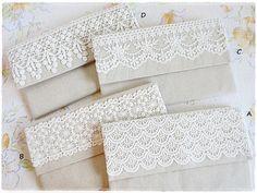 Bridesmaids large envelope clutch white by KawaiiSakuraHandmade