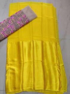 Designer Half Georgette half satin Sarees | Buy Online Designer Sarees | Elegant Fashion Wear