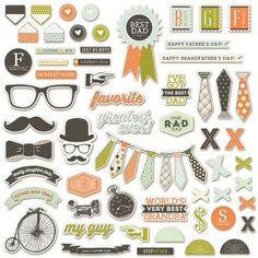 Fancy Pants Designs - Good Fellows - Ephemera Pack