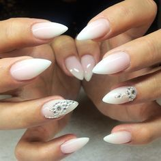 White Faded French Nails