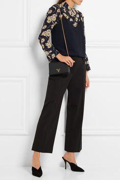 Prada | Wallet On A Chain textured-leather shoulder bag | NET-A-PORTER.COM