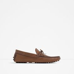 ZARA - MAN - BROWN LEATHER DRIVING LOAFERS