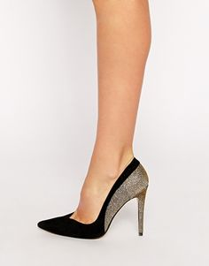 c91531777 Dune Brittany Suede   Glitter Heeled Pumps at asos.com
