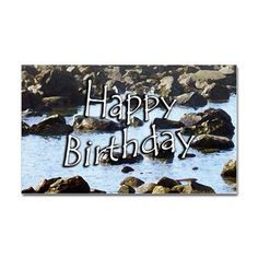Birthday Ocean Decal on CafePress.com