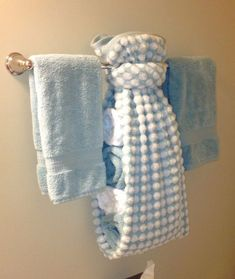 creative ways to display towels in bathroom . Hand towel display for guest bath Bad Inspiration, Bathroom Inspiration, Hang Towels In Bathroom, Bathroom Storage, Bathroom Towel Display, Bathroom Organization, Organization Ideas, Small Bathroom, Storage Ideas