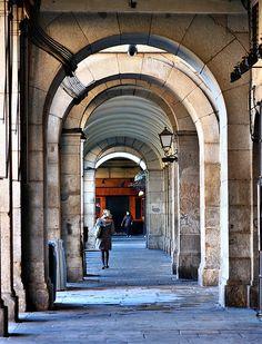Soportales de la Plaza Mayor. Madrid