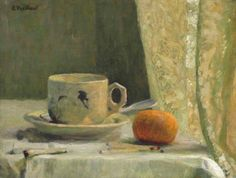 Reproduction tableau de Édouard Vuillard, Cup and Mandarin, Edouard Vuillard, Norman Rockwell, Abstract Landscape, Landscape Paintings, Abstract Art, Felix Vallotton, Lawrence Lee, Still Life Artists, Mondrian