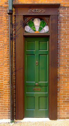 John D McGurk Irish Pub, in Saint Louis, Missouri, USA - door by msabeln Cool Doors, Unique Doors, Gates, Behind The Green Door, Door Gate, Missouri, Windows And Doors, Front Doors, Entry Doors